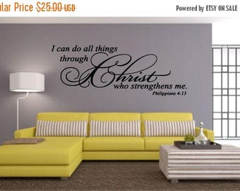EVERYTHING IS 20% OFF I Can Do All Things Through Christ Wall Decal