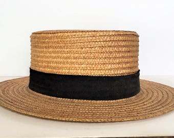 1880-1920 Brummell LONDON Straw Boater Hat