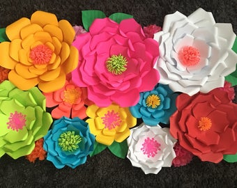 mexican Fiesta Paper Flower Wall for party decor, wall decor, cake table decor, mexican fiesta decor