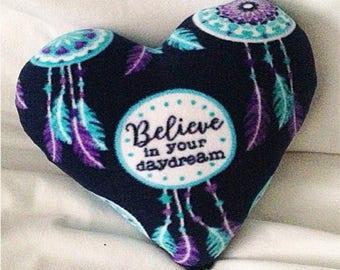 Dreamer Fleece Dreamcatcher Heart Pillow