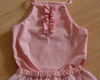 Child 21 top pink with bee and lace