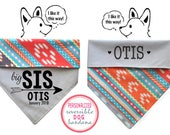 Personalized Stylish Reversible Dog Bandana (Dog Tribe)