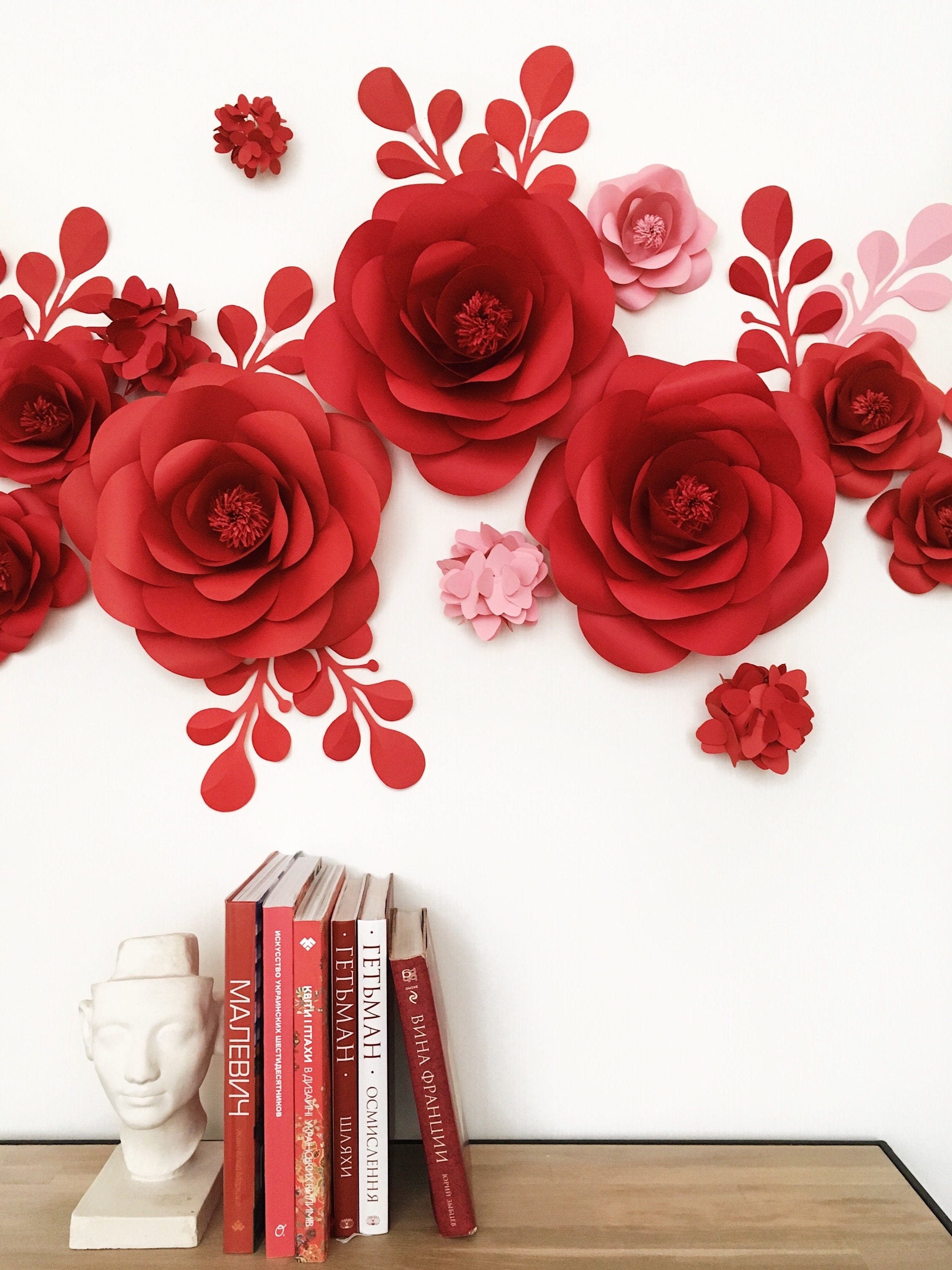 Set of paper flowers for wall decor baby girl room decor nursery set of paper flowers for wall decor baby girl room decor nursery paper flowers mightylinksfo