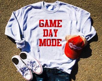 Game Day Mode Sweatshirt, Gameday Shirt, Football Sweatshirt, Game Day Sweatshirt, Football Saturday, Football, Volleyball
