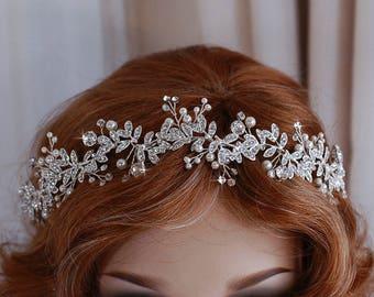 Vine Wedding Headpiece Wreath Hairpiece Accessory Hair Band Piece Bridal Headband Party Prom Head Jewelry Bride Accessories Jewelry Wreaths