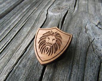 Lion Shield Pin