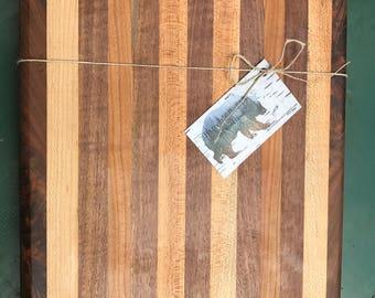 Maple + Walnut Large Cutting Board