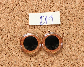 Eye Chips For Blythe Doll  Hand painted pair of eye chips no.D19