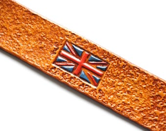 Leather Bookmark | British Flag