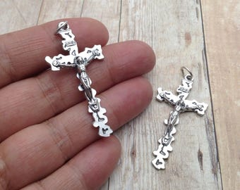 Rosary Medals / Cut-Out Crucifix / Rosary Parts / Rosary Crucifix