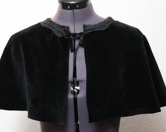 Gothic/steampunk Cape, Cape, shoulder Cape, coat, Victorian, medieval