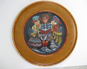 Christmas wood plate