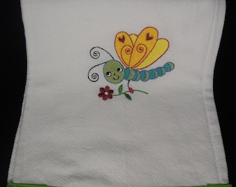 Embroidered Baby Burp Cloth