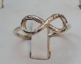 Infinity Silver Ring ,Sterling Silver Ring ,Infinity Friendship Silver Ring ,Infinity Promise Ring ,Delicate Silver Ring ,Valentine's Day