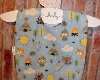 Infant/Toddler Waterproof Bib - Owls - MEDIUM