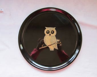 Couric Owl Vintage Serving Plate
