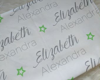 Personalized star swaddle blanket for newborn or hospital pictures: baby personalized name newborn hospital gift baby shower gift
