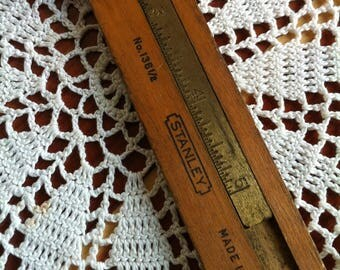 A Measuring Tool/Ruler Marked Stanley No. 136 1/2 Made In U.S.A.