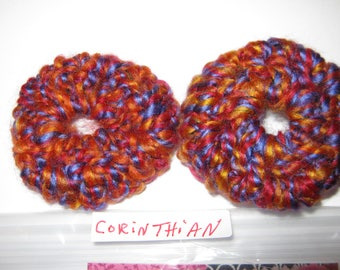 CORINTHIAN Thick Ear Cushions/Pads/Cookies. Hand crochetted. New.