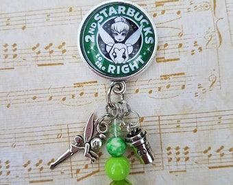 Tinkerbell Starbucks Charm Necklace