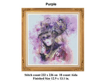 Purple PDF chart only for 18 count