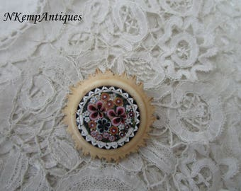 Antique  mosaic brooch for the collector