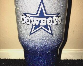 Glitter Dallas Cowboys Tumbler