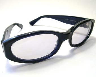 1980s Vogue Sunglasses - Navy Blue Frames - Vintage Sunglasses