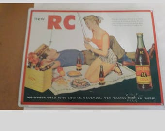 Vintage Metal 1992 New RC Royal Crown RC Cola 15 1/2 x 12 Inches Advertising Sign