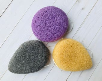 Konjac Sponge, Natural Sponges, 4 inches, Sweet River Soap Co
