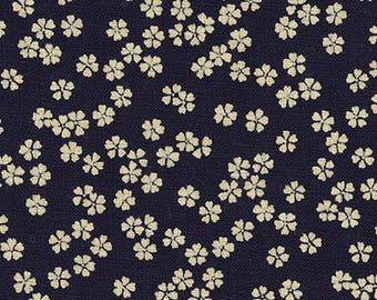 Wildflower in Indigo- Sevenberry Nara Homespun- Robert Kaufman