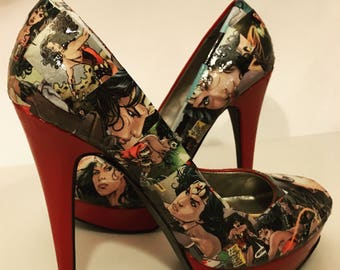 Wonder Woman Heels (Size 7)