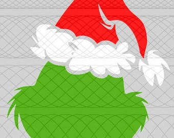 Grinch Head (Simple) SVG, PNG, and STUDIO3 Cut Files for Silhouette Cameo/Portrait and Cricut Explore DIY Craft Cutters