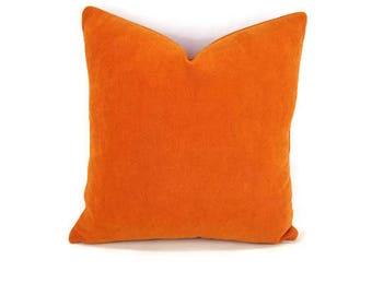 Opuzen Alicante Orange Plush Weave Pillow Cover