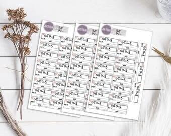Bill Due Planner Stickers ECLP Happy Planner KikkiK Filofax minimalist