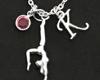 Personalized Gymnastic Necklace Gymnast Gift