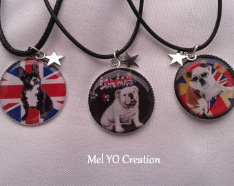"Collection ""Bouldogue"" necklace and star charm"
