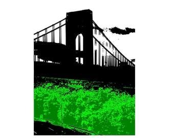 Print Bridge / George Washington Bridge / G W Bridge / 8 x 10 PRINT / Bridges / NYC