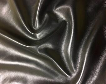 Italian Lambskin Leather lamb Skin Hide Black Gevaudan - 8 Sq.Ft (2 oz)