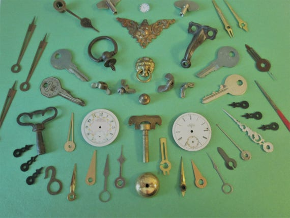 A Nice Selection of Antique & Vintage Assorted Steampunk Art - Altered Art Findings - Make Jewelry - Have Fun