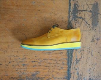 Yellow Flat Shoes Etsy