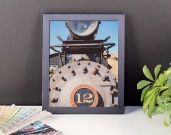 Framed photo paper poster - Red Silo Original Art - Train Car Engine 12