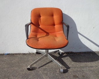 Steelcase Task Chair Armchair Desk Mid Century Modern Pollock Knoll Style Office Computer Wheels Eames Writing Swivel Lounge Vintage Seating