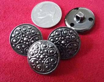 Decorative Pewter Buttons 4