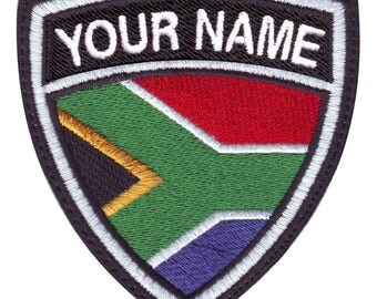 South Africa Custom Crest Flag name Embroidered Patch