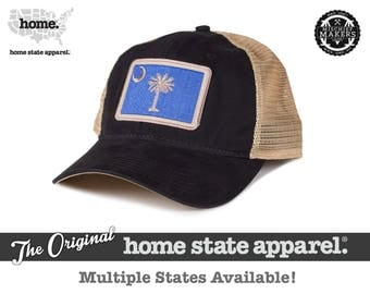 Home State Apparel Hat: State Flag Snapback Hat - Black/Khaki