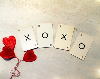 XOXO Hugs & Kisses Vintage Word - Card Making Supply / Gift Embellishment Art Supply -Wall Art