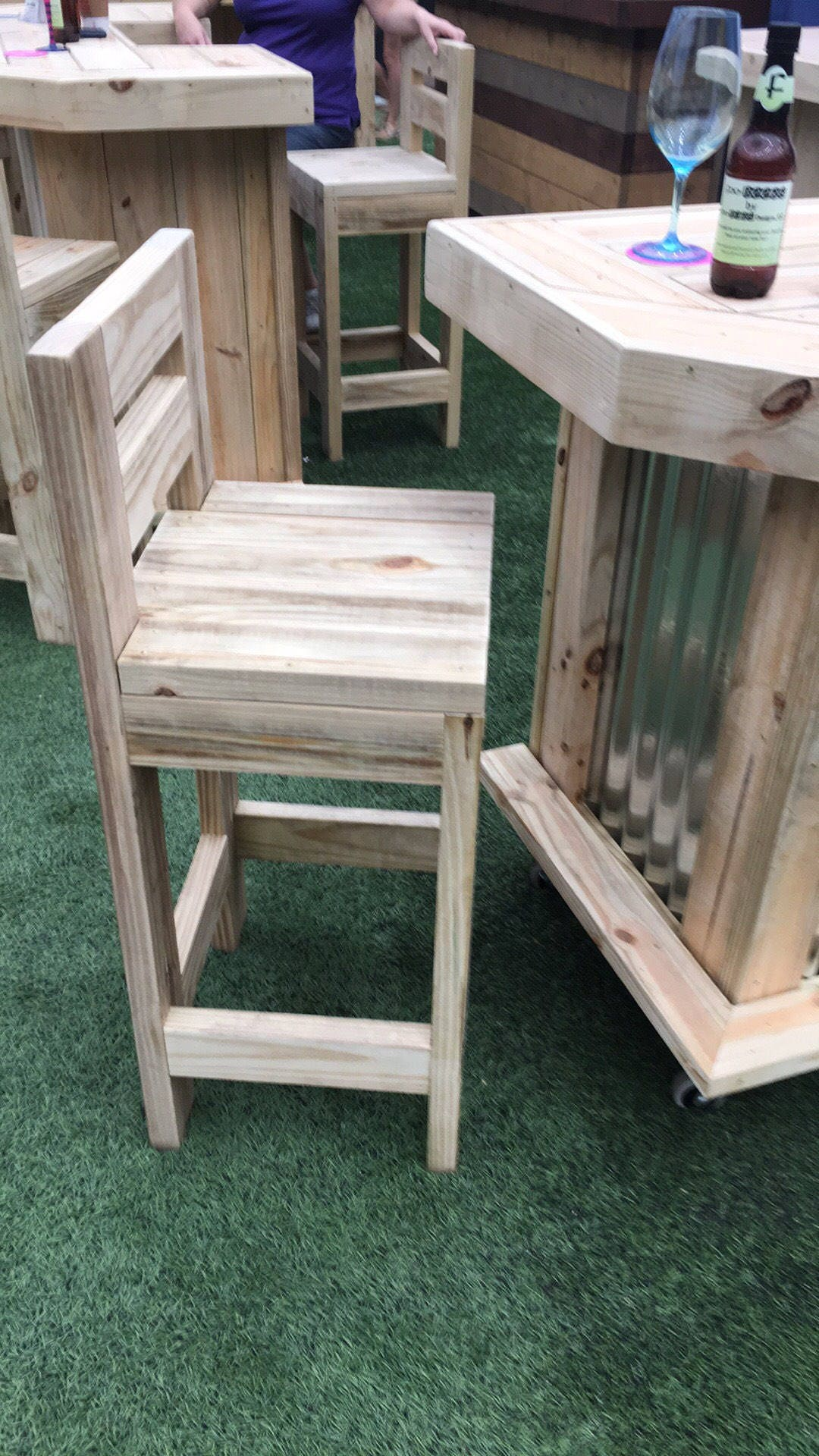 Exterior Bar Stool - Durable Rustic outdoor Bar stools, hand made ...