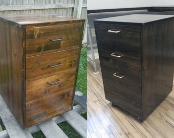 rustic wood file cabinet filing cabinet etsy 25777