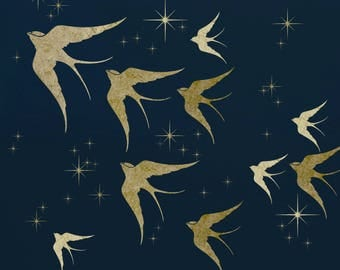 Swallows and Stars All Over Stencil Kit.  ST42